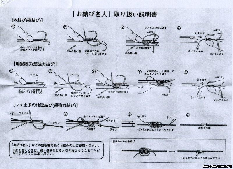 приспособление для вязания узлов рыболовных